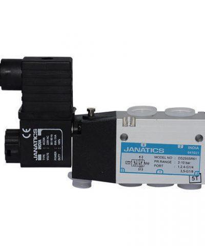 Janatics Single solenoid valve 1/4 inch 5/2 way AC 220v / DC 24v